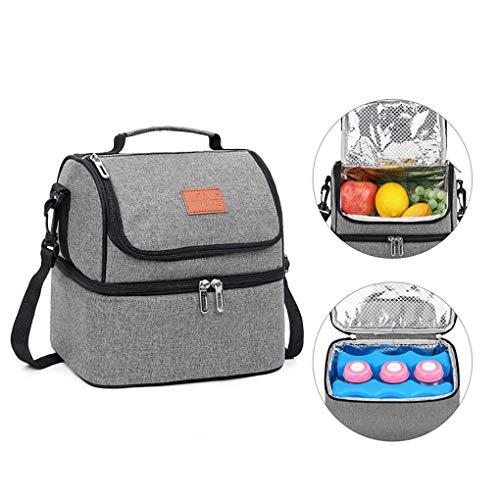 Cooler Picknicktasche, Lunch Bag Thermal Bag Kühltasche Für Lebensmitteltransport, Für Familienaktivitäten Auf Outdoor-Camping-Picknick,Grau