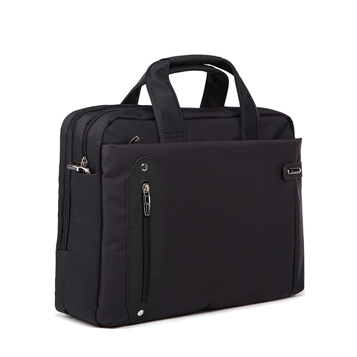 Coffee laptop bag 15. 6jingdianzuanshi briefcase men's black (black)