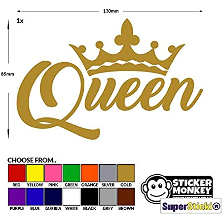 Queen Rear Window Car Sticker Oem Tuning Decal Sticker 45 Cm X 30 Cm 30 Colour Selection Auto