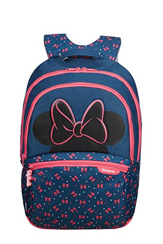 Samsonite Disney Ultimate 2.0 - Kinderrucksack M, 42 cm, 18.5 L, Blau (Minnie Neon)
