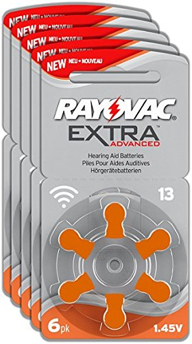 Rayovac Extra Advanced–Batterie Audifono zinco aria A13/PR48, confezione da 30pezzi, colore: arancione