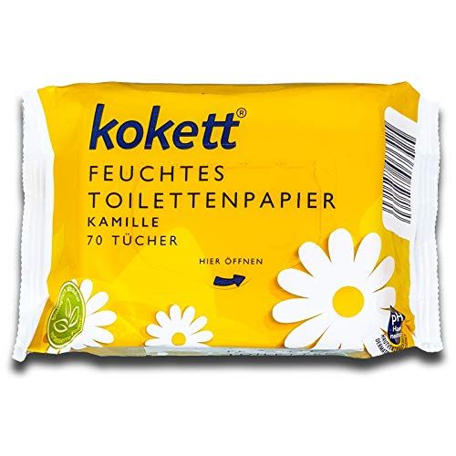 Kokett® 70 Tücher Feuchtes Toilettenpapier mit Kamille, Toilettentücher