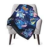 Stitch with Loli Baby Blanket Super Soft Blanket Fleece Toddler Blanket with Sloth for Kids 30 X 40 Inch