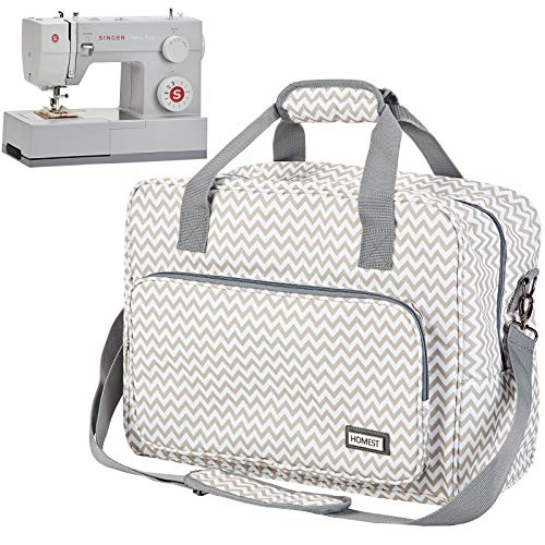 HOMEST Sewing Machine Carrying Case, Universal Tote Bag with Shoulder Strap Fits Most Standard Singer, Brother, Janome, Ripple