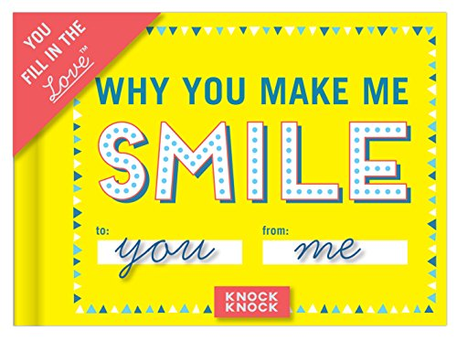 Knock Knock Why You Make Me Smile Fill in the Love Book Fill-in-the-Blank Gift Journal, 4.5 x 3.25-inches Photo #4
