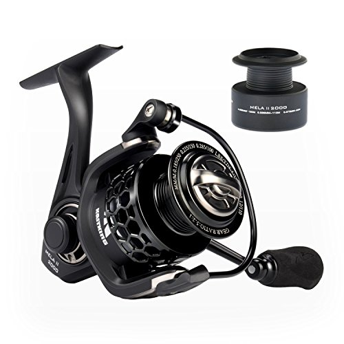 KastKing Mela II Spinning Reel, Light, Smooth Fishing Reel, Free Spare Graphite Spool, 10 + 1 BB, 5.2:1 Gear Ratio, Powerful Carbon Fiber Drag System.
