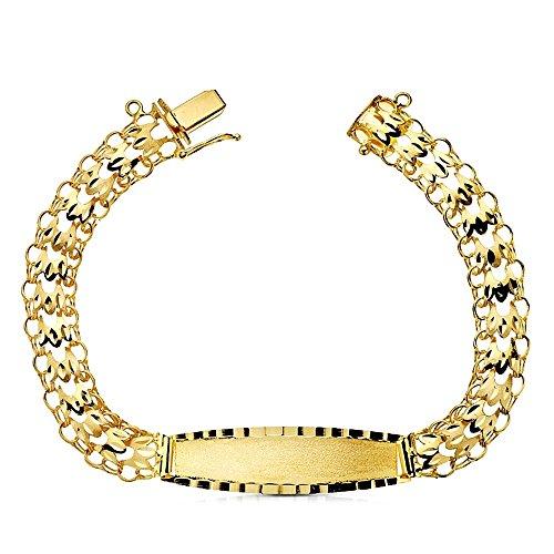Esclava oro 18k princesa 21cm. [AB2991GR] - Personalizable - GRABACIÓN INCLUIDA EN EL PRECIO