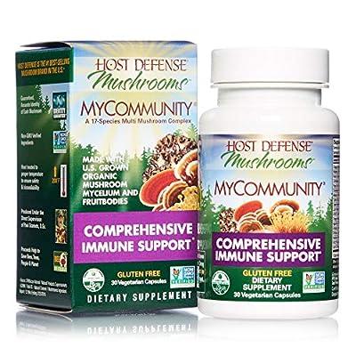 Host Defense - MyCommunity Capsules, Multi Mushroom Support for Immune Response, 120 Count