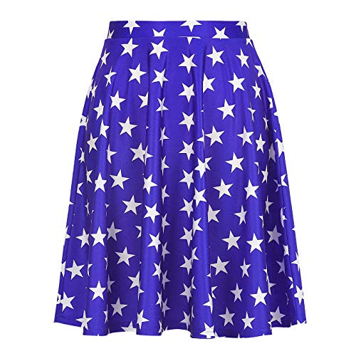 Womens US Flag Skirt Patriotic Summer Skirts