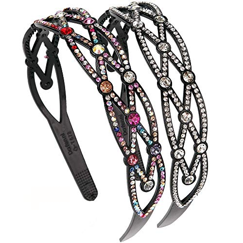 LONEEDY Damen Stirnband Style2:silver+color