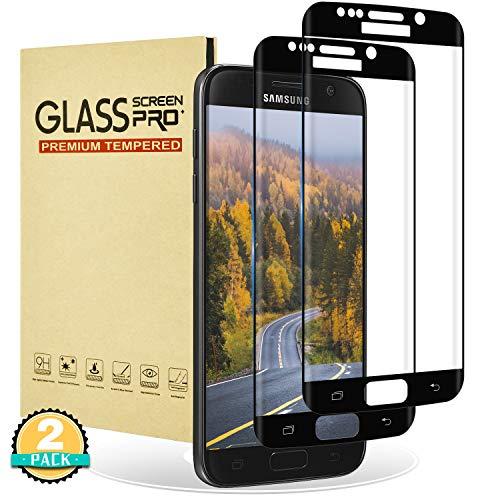 RIIMUHIR Verre Trempé pour Samsung Galaxy S7 Edge,[Lot de 2][Couverture Complète] Film Protection Écran Protecteur pour Galaxy S7 Edge,Compatible 3D Touch sans Bulles d'air Dureté 9H