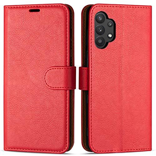 Case Collection Funda de Cuero para Samsung Galaxy A32 5G (6,5') Estilo Cartera con Tapa abatible y Ranuras para Dinero y Tarjeta de crédito para Samsung Galaxy A32 5G Funda