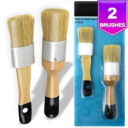 9 Piece Chalk Paint Wax Brush Set
