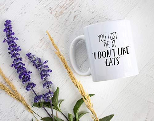 Taza de té Lplpol – Taza personalizada divertida para amantes de los gatos, taza de café para gatos, taza de café para gatos, regalo personalizado, regalo para propietario de mascotas, taza divertida, cita de gato, taza divertida, regalo divertido, 11 oz