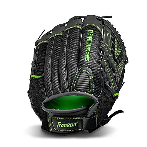 "Franklin Sports Softball Glove - Windmill Fastpitch + Slowpitch Softball Glove - Green Softball Mitt - Right Hand Throw Adult + Youth - 13"""