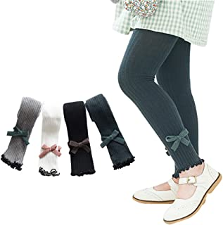 Ehdching 5/4 Pack Baby Toddler Kids Girls Footless Cable Knit Tights Cotton Leggings Stocking Pants