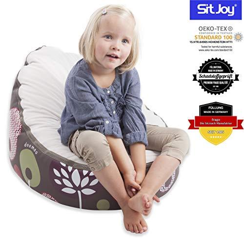 Sitjoy Baby-Sitzsack doomoo   Toxproof-Perlen Füllung   Tree Sand   Liegekissen – Lagerungskissen