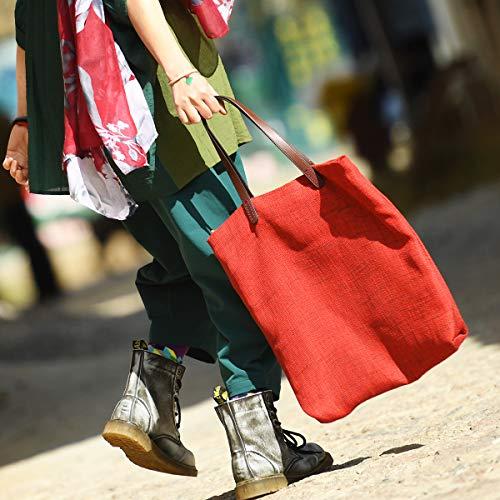 ZSBB Wanderrucksack Outdoor-Reisen ursprünglichen minimalistischen Leinwand Tasche Handtasche, Sonntag Frauen Tag Sackleinen Tasche Schultertasche, 20 Liter oder darunter, Kaffee