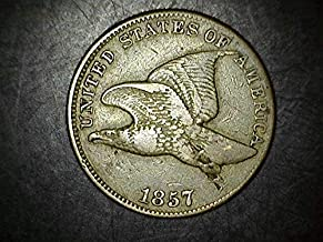 1857 FLYING EAGLE CENT LETTERING OF 1856 1c VF