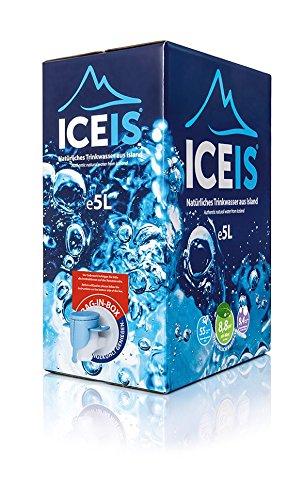 ICEIS - Natürliches alkalisches Wasser (pH-Wert 8,8) von einem Gletscher in Island - 5L (Packung mit 1 Stück)