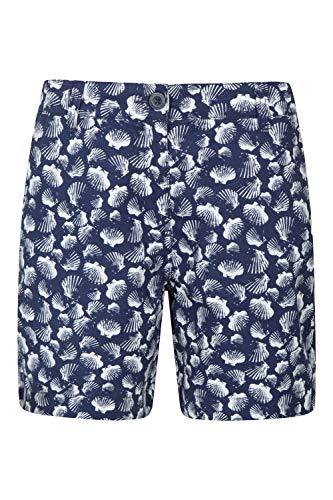 Mountain Warehouse Lakeside II Kurze Damen-Hose – leichte Damenhose, langlebige Kurze Sommerhose, Bequeme Damenshorts, Baumwollhose für Damen – für Strand und Picknicks Blau 48