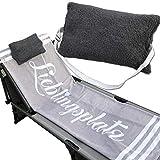 JEMIDI Kissen mit verstellbarem Gummizug für Sonnenliegen Stühle Multikissen Strandlaken...