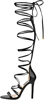 Best high lace up gladiator sandals Reviews