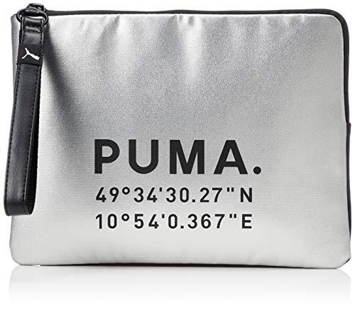 PUMA dames Prime Time Clutch X-mas handtas, zilver zwart, OSFA