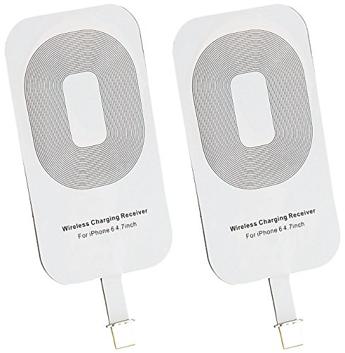 Callstel Wireless Charging: Qi-komp. Receiver-Pad kompatibel mit iPhone 6/7/s und iPhone 6/7/s Plus - 2er Set (Qi kompatible Receiver Pads)