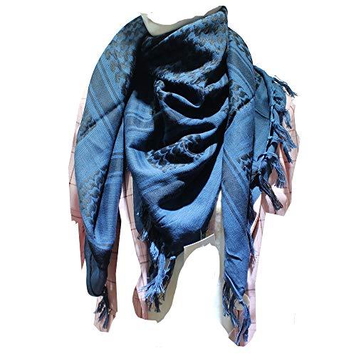 JONKUU® Halstücher PLO Schal°110x110 cm°Pali Palästinenser Arafat Tuch°100% Baumwolle - Viele Farben (Blau, Einheitsgröße)