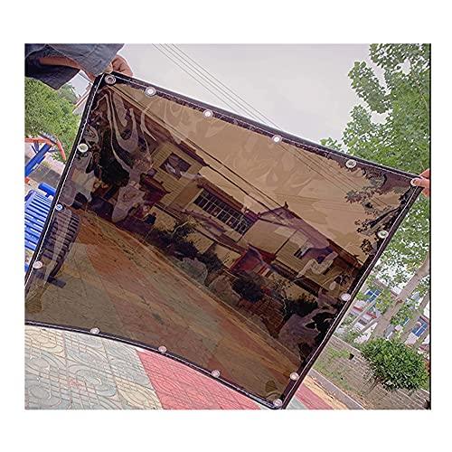 YJFENG Transparente Lona Alquitranada, 0,35 Mm Impermeable Paño De Sombra Lona con Ojales, 95% De Reflectividad Impermeable Pérgola Parabrisas Panel Lateral Dividir Cortina
