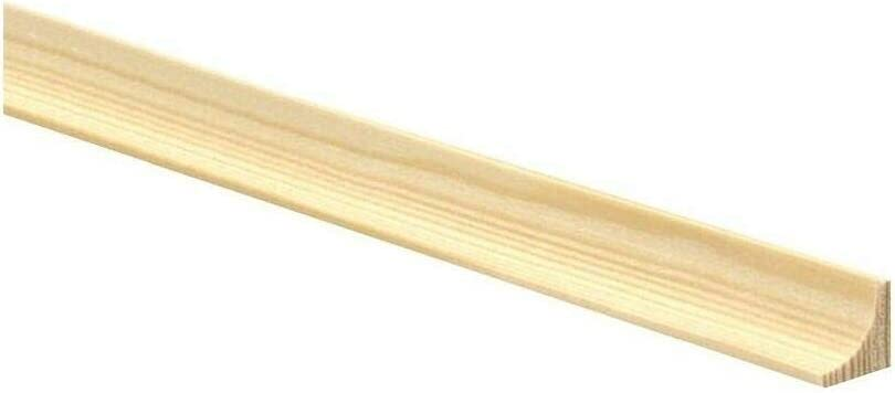 94.49inch Scotia Pine Decorative Trim Moulding 20x20mm Beading Wooden Timber Edging TMW Profiles 2.4M 20x20mm