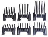 Moser Set de 6 sabots pour tondeuse à cheveux Moser/Ermila/Wahl 3-25 mm
