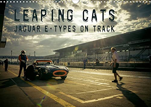 Leaping Cats - Jaguar E-Types on Track (Wandkalender 2022 DIN A3 quer)