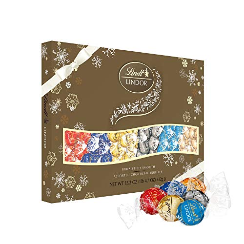 Lindt Holiday Deluxe Assorted Truffles Gift Box, Great for Gifting, 15.2 Ounce