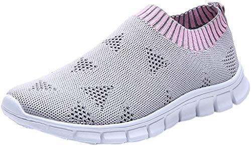 Dtuta Mesh Schnür-Sneaker Damen, Athletic Wanderschuhe - Lässige, leichte, atmungsaktive Laufschuhe aus Mesh