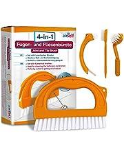 Set de 4 cepillos para limpieza de juntas y azulejos - Para el baño y todo el hogar - Ideales para quitar el moho sin usar sustancias químicas