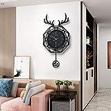 WEILAN nórdico Cabeza de Ciervo Moderno Minimalista Moda hogar Reloj Sala de Estar Creativo Reloj de Pared Arte decoración Red Reloj Rojo Pared
