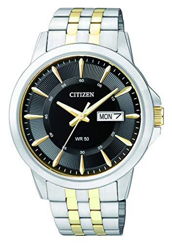 CITIZEN Herren Analog Quarz Uhr mit Edelstahl Armband BF2018-52EE