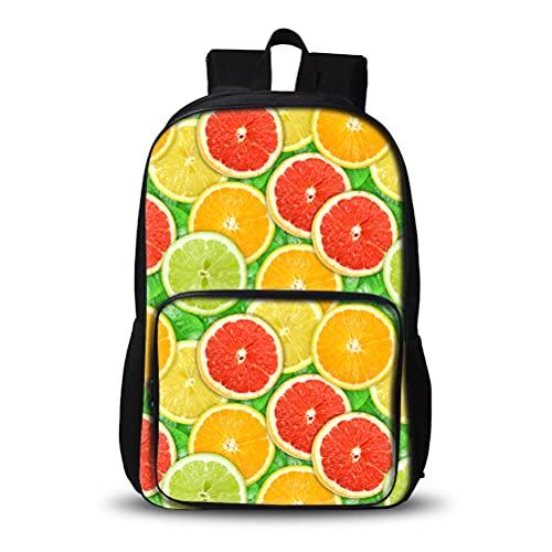 3D Mochila para niños Naranjas 3D Mochila compacta y ligera Mochila al aire libre elegante bolsa de senderismo conveniente para escolares y niñas bolsa de escuela de la escuela de la escuela de alta c