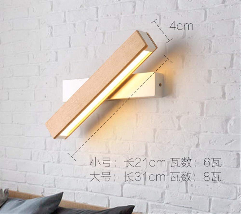 JDFM5 LED Wandleuchte aus Holz, Holzmaserung + schwarzer Fu Wandlampe Innen Design für Schlafzimmer Wohnzimmer Wandstrahler mit Metall Loft modern Stil Beleuchtung Wandlicht Treppenhaus Wandleuchte