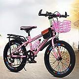 giyiohok Fahrräder Fahrrad Kind / 18 Zoll / 20 Zoll / 22 Zoll Junge Mädchen Fahrrad Student Travel Fahrrad Variable Geschwindigkeitsanpassung Fahrrad 5~15 Jahre im Freien-22 Zoll_Rosa