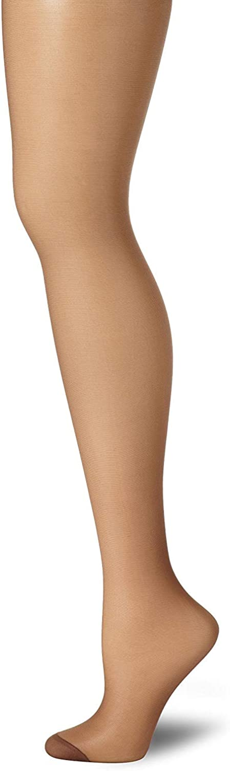 Hanes Silk Reflections Control Top Reinforced Toe Pantyhose, Gentlebrown- AB