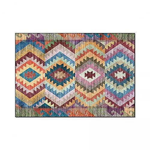 Alfombra Textiles para el hogar Casual Bohemio Multicolor geométrico Estilo étnico Dormitorio Cocina Sala de Estar Alfombra Alfombra Decoración para el hogar Manta de Yoga