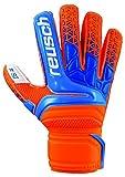 Reusch Soccer Prisma SG Finger Support Goalkeeper Gloves Orange/Blue, 10 (3870810-10)