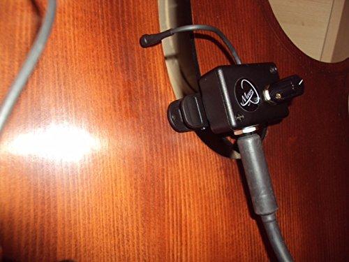 Myers Pickups Kontrabass-Tonabnehmer, mit flexiblem Schwanenhalsmikrofon, Alle Kontrabass-Tonabnehmer mit einstellbarem Sperr-Clip mit Gummipads