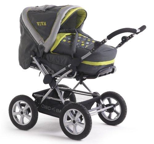 Chic 4 Baby Kinderwagen VIVA 100 42 Schwenkschieber-ALU-Kombi,Lemontree mit großen Lufträdern