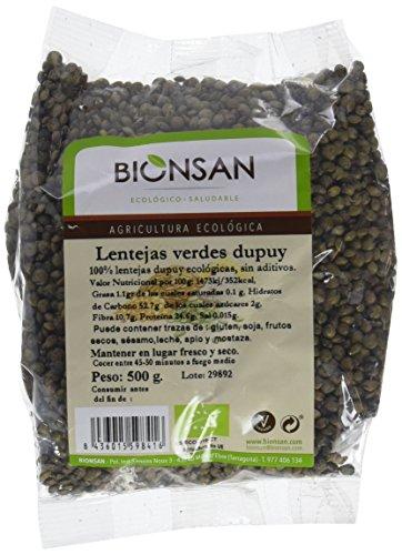 Bionsan Lenteja Verde Dupuy Ecológica | 6 Bolsas de 500 gr | Total 3000 gr
