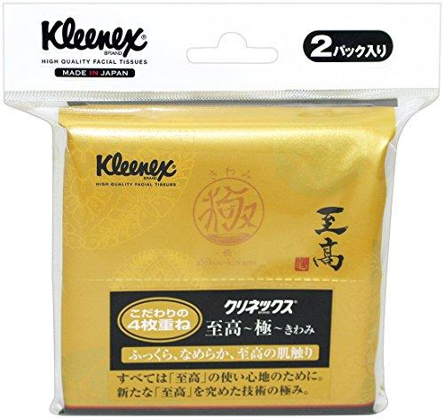 日本製紙クレシア クリネックス 至高 極 きわみ ポケットティシュー 48枚 12組 ×2コ入
