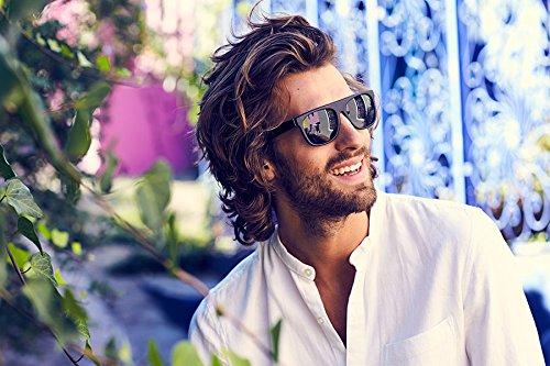 Cheapass occhiali da sole flattop neri UV400